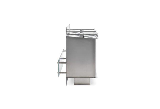 Firebox 1200SS Fireplace Insert - Ethanol / Stainless Steel / Side View by EcoSmart Fire