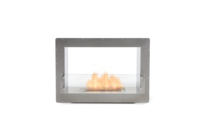 Firebox 800DB Fireplace Insert - Ethanol / Stainless Steel / Front View by EcoSmart Fire
