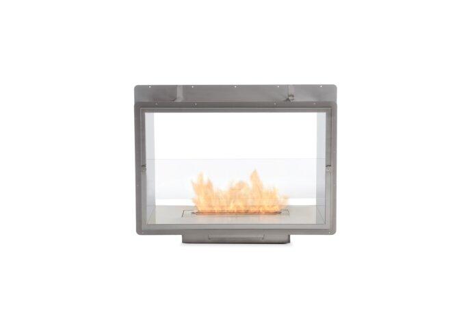 Firebox 800DB Fireplace Insert - Ethanol / Stainless Steel / Rear View by EcoSmart Fire