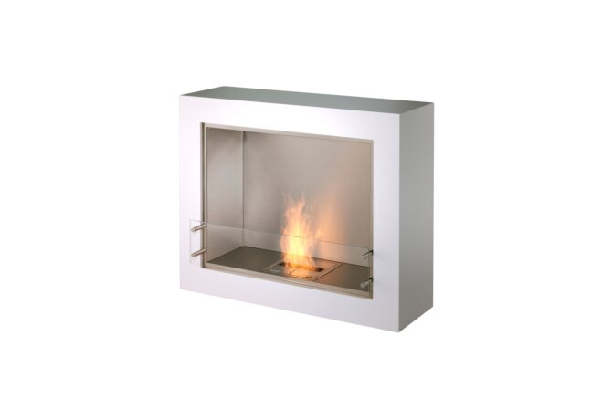 Aspect Designer Fireplace - Ethanol / White by EcoSmart Fire