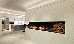 Flex 122LC.BXL Left Corner - In-Situ Image by EcoSmart Fire