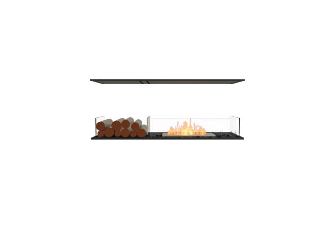 Flex 50IL.BX1 Island - Ethanol / Black / Installed View by EcoSmart Fire