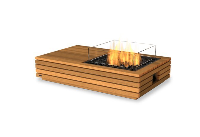 Manhattan 50 Fire Table - Gas LP/NG / Teak by EcoSmart Fire