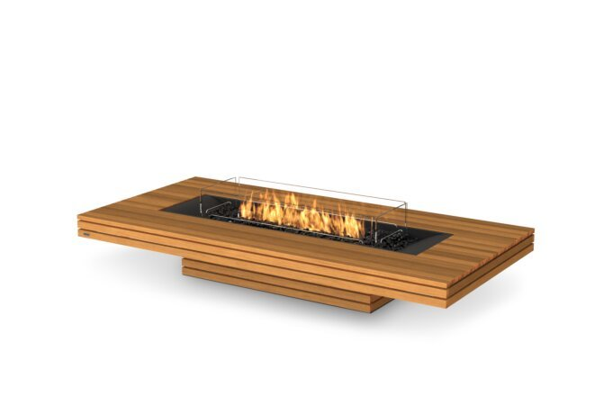 Gin 90 (Low) Fire Table - Gas LP/NG / Teak by EcoSmart Fire
