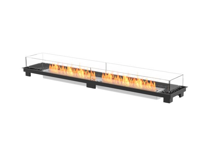 Linear 90 Fire Pit Kit - Ethanol / Black by EcoSmart Fire