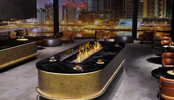 Commercial - Linear 90 Fire Pit Kit by EcoSmart Fire