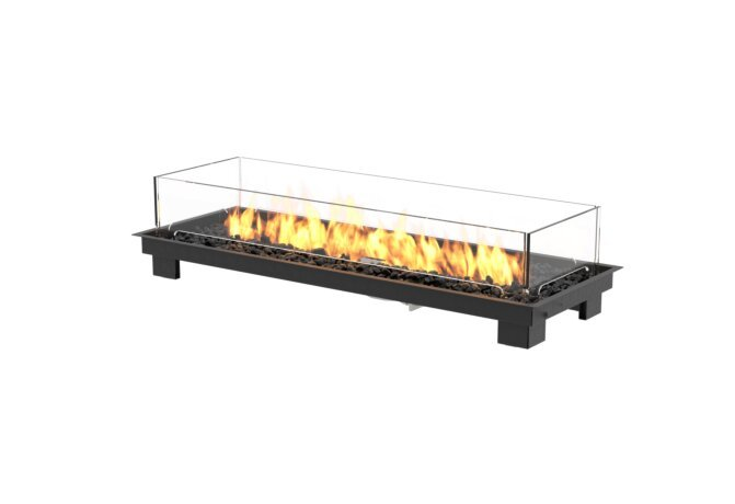 Linear 50 Fire Pit Kit - Gas LP/NG / Black by EcoSmart Fire