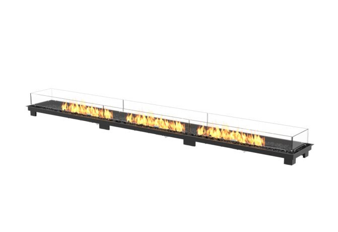 Linear 130 Fire Pit Kit - Gas LP/NG / Black by EcoSmart Fire