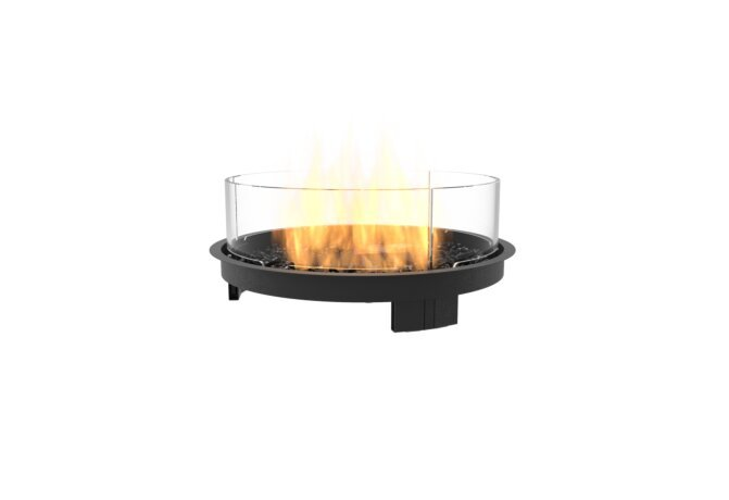 Round 20 Fire Pit Kit - Gas LP/NG / Black by EcoSmart Fire