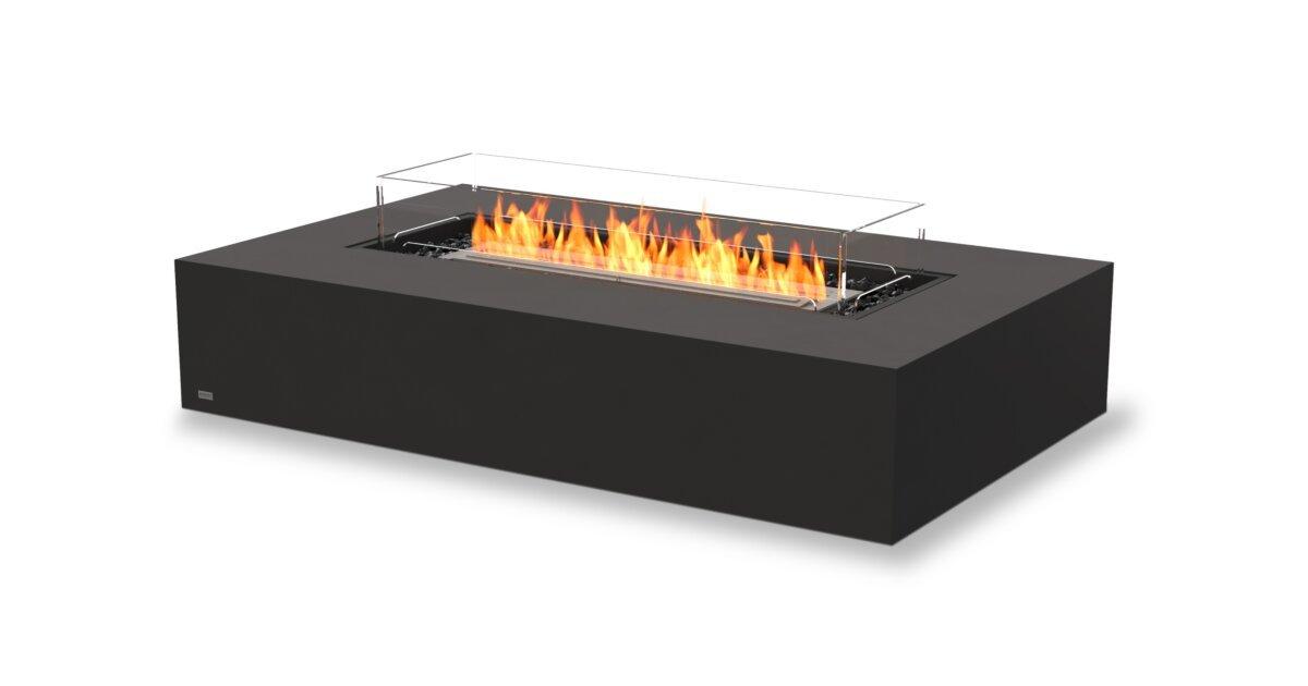 Wharf 65 Freestanding Fire Pit Table Ecosmart Fire