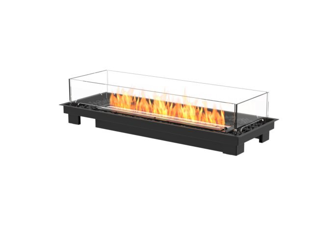 Linear 50 Fire Pit Kit - Ethanol - Black / Black / Indoor Safety Tray by EcoSmart Fire