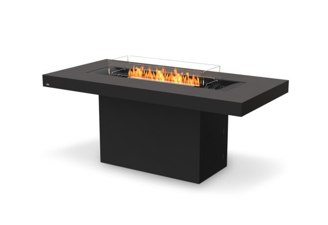 Gin 90 (Bar) Fire Table - Ethanol - Black / Graphite / Optional Fire Screen by EcoSmart Fire