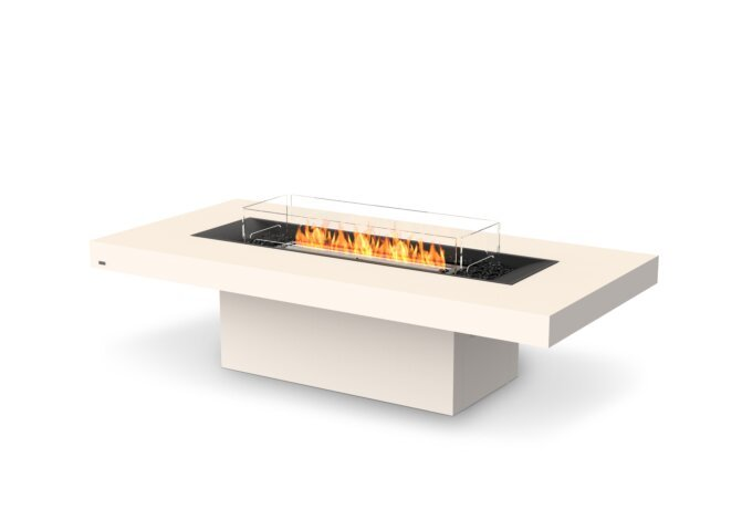 Gin 90 (Chat) Fire Table - Ethanol - Black / Bone / Optional Fire Screen by EcoSmart Fire