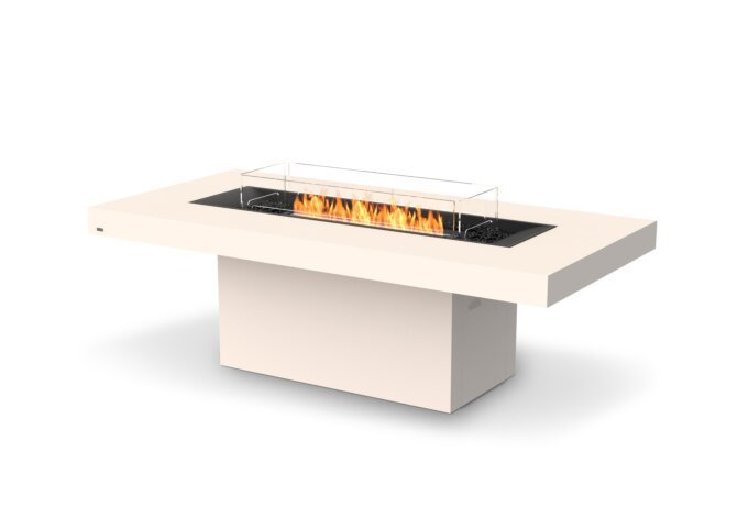 Gin 90 (Dining) Fire Table - Ethanol - Black / Bone / Optional Fire Screen by EcoSmart Fire