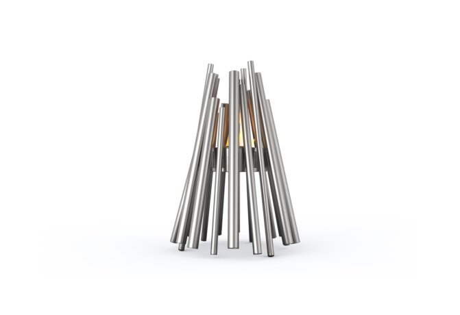 Stix Fire Pit - Ethanol - Black / Stainless Steel by EcoSmart Fire