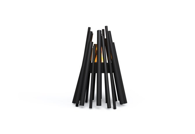 Stix Fire Pit - Ethanol - Black / Black by EcoSmart Fire