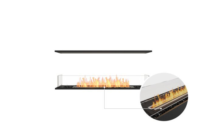 Flex 50IL Island - Ethanol - Black / Black / Installed View by EcoSmart Fire