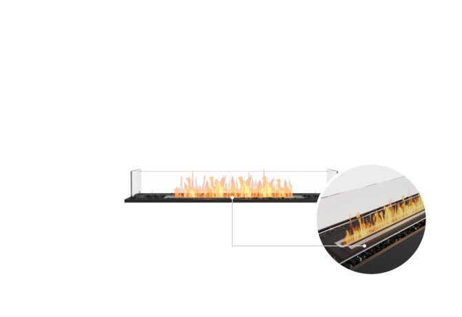Flex 50BN Bench - Ethanol - Black / Black / Installed View by EcoSmart Fire