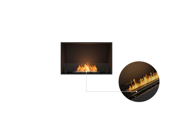 Flex 32SS Single Sided - Ethanol - Black / Black / Installed View by EcoSmart Fire
