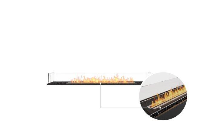 Flex 68BN Bench - Ethanol - Black / Black / Installed View by EcoSmart Fire