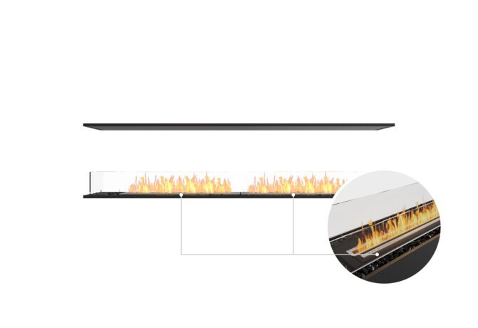 Flex 86IL Island - Ethanol - Black / Black / Installed View by EcoSmart Fire