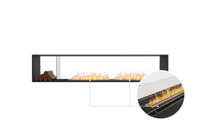 Flex 104DB.BX1 Double Sided - Ethanol - Black / Black / Installed View by EcoSmart Fire