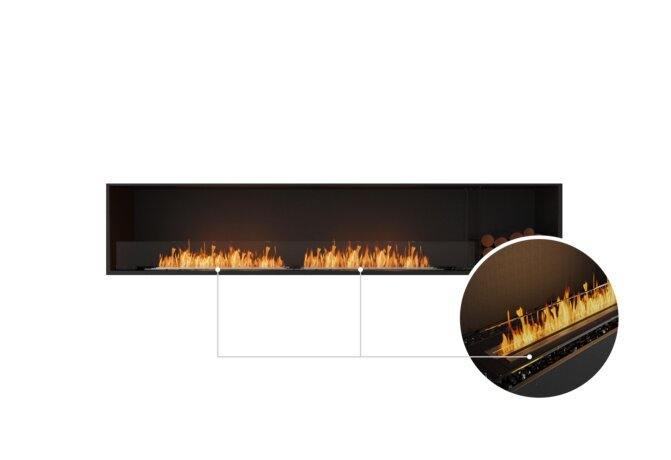 Flex 104SS.BXR Single Sided - Ethanol - Black / Black / Installed View by EcoSmart Fire