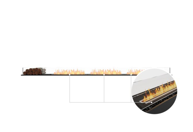 Flex 140BN.BX1 Bench - Ethanol - Black / Black / Installed View by EcoSmart Fire