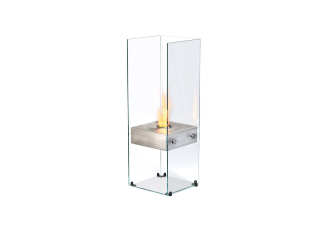 Ghost Designer Fireplace - Ethanol / Stainless Steel by EcoSmart Fire