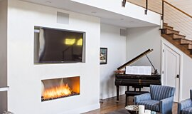 Studio City  Premium Fireplace Series Built-In Fire Idea