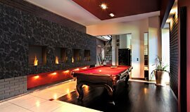 Billiard Room Fireplace Inserts Built-In Fire Idea