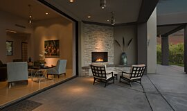 Outdoor Space Fireplace Inserts Built-In Fire Idea
