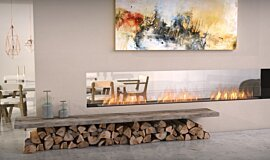 Lounge Area Indoor Fireplaces Built-In Fire Idea