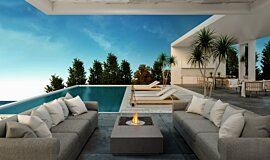 Poolside Freestanding Fireplaces Freestanding Fire Idea