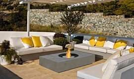 Pergola Freestanding Fireplaces Fire Pit Idea