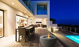 Outdoor Deck Freestanding Fireplaces Freestanding Fire Idea