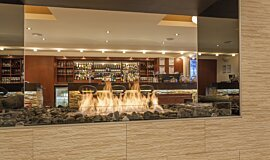 Black Salt Restaurant Indoor Fireplaces Ethanol Burner Idea
