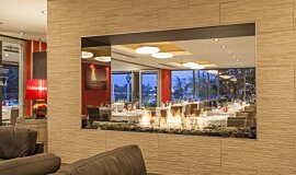 Black Salt Restaurant See-Through Fireplaces Ethanol Burner Idea