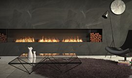 Living Room Fireplace Inserts Built-In Fire Idea