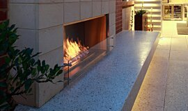 Private Residence Outdoor Fireplaces Fireplace Insert Idea