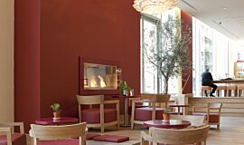 Vapiano, UK Hospitality Fireplaces Built-In Fire Idea