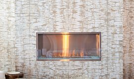 W Residence Residential Fireplaces Built-In Fire Idea