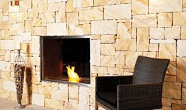 EcoOutdoor Kitchen Interior Designs Fireplace Insert Idea