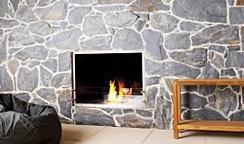 EcoOutdoor Commercial Fireplaces Built-In Fire Idea