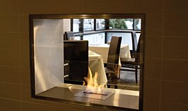 Equinox Restaurant Double Sided Fireboxes BK Burners Fireplace Insert Idea
