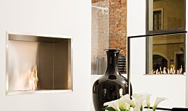 Fuorisalone Single Sided Fireboxes BK Burners Built-In Fire Idea