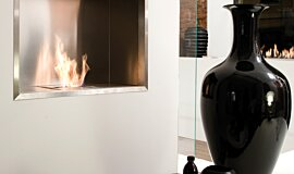 Fuorisalone Premium Fireplace Series Built-In Fire Idea