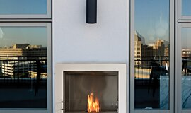 Private Residence Single Sided Fireboxes BK Burners Built-In Fire Idea