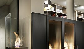 Merkmal Showroom See-Through Fireplaces Designer Fireplace Idea
