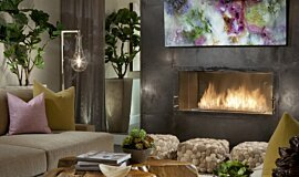 Dream House Premium Fireplace Series Built-In Fire Idea